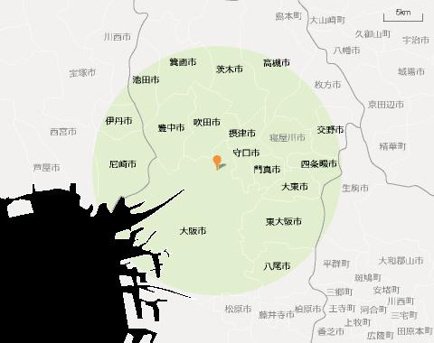 新大阪DC訪問エリアマップ